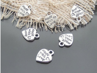Silver plated charms